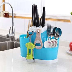 Plastic Kitchen Storage Rack For Organizer Kitchen Knife Fork Shelf Spoon Holder Tool Drain Chopsticks Tableware Utensils