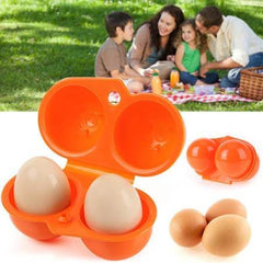 ortable Kitchen Food Container Egg Storage Box Organizer Hiking Outdoor Camping Carrier for 2 Egg Case Box
