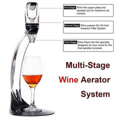 Professional Red Wine Decanter Pourer With Filter Stand Holder Vodka Quick Air Aerator For Home Dining Bar Essential Set