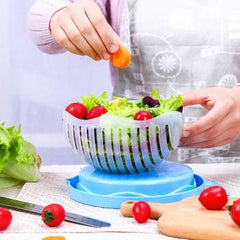 Salad Cutting Bowl Fruit and Vegetable Cutting Bowl Fruit Salad Cutting Bowl Kitchen Practical Convenient Tool