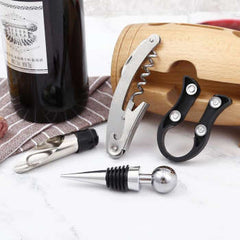 Wine Tools Sets with Bottle Opener Wine stopper Wine Accessory Kit Gifts for Wine Tools the Best Gifts for Friends