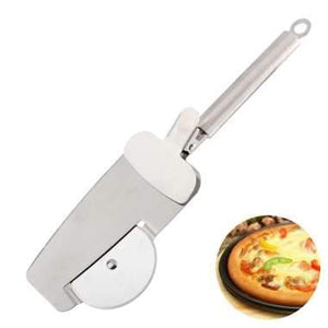 3 in 1 Stainless Steel Pizza Cutter with Clip Pizza Wheels Roller Cutter Bread Knife Pastry Dough Slicer Kitchen Tools