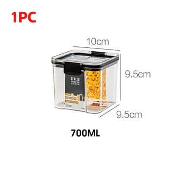 700/1300/1800ML Food Storage Container Plastic Kitchen Refrigerator Noodle Box Multigrain Storage Tank Transparent Sealed Cans