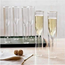 Champagne Glass Double Wall Glasses Flutes Goblet Bubble Wine Tulip Cocktail Wedding Party Cup Toast Bodum Thule Xicaras Copo