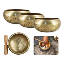 Healing Meditation Yoga Bowl Set Decorative-wall-dishes Resonance with Mallet Handmade Tibetan Singing Bowl
