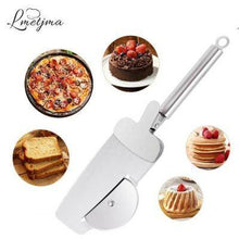 4 in 1 Pizza Cutter Wheel Stainless Steel Pizza Cutter Pizza Knife Serving Spatula Gripping Paddle Pizza Tools