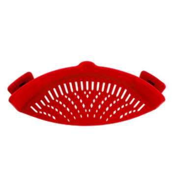 Silicone Colanders Kitchen Clip On Pot Strainer Drainer For Draining Excess Liquid Univers Draining Pasta Vegetable Cookware