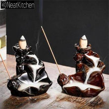 Vintage Ceramic Incense Burners BackFlow Incense Burners Holder Home Decor Joss Stick Aromatherapy Black Brown Aroma Censer