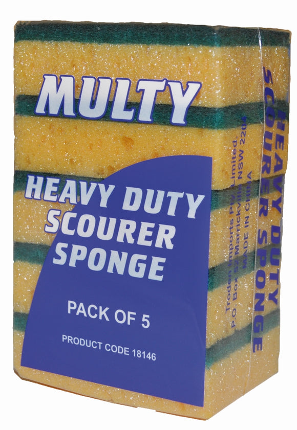 MULTY/VISKA SCOURING SPONGE 5 PACK