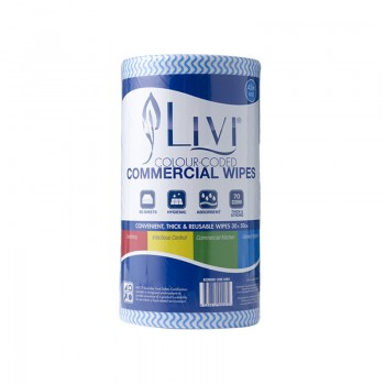 Livi Commercial Wipes Blue