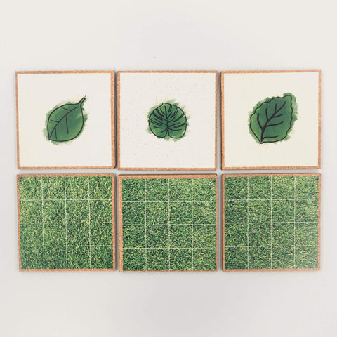 Leaves x Grass Terrain Coaster Set