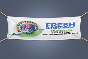 Vinyl Banner/ Step & Repeat / Photography Backdrop - GET FRESH MARKETPLACE