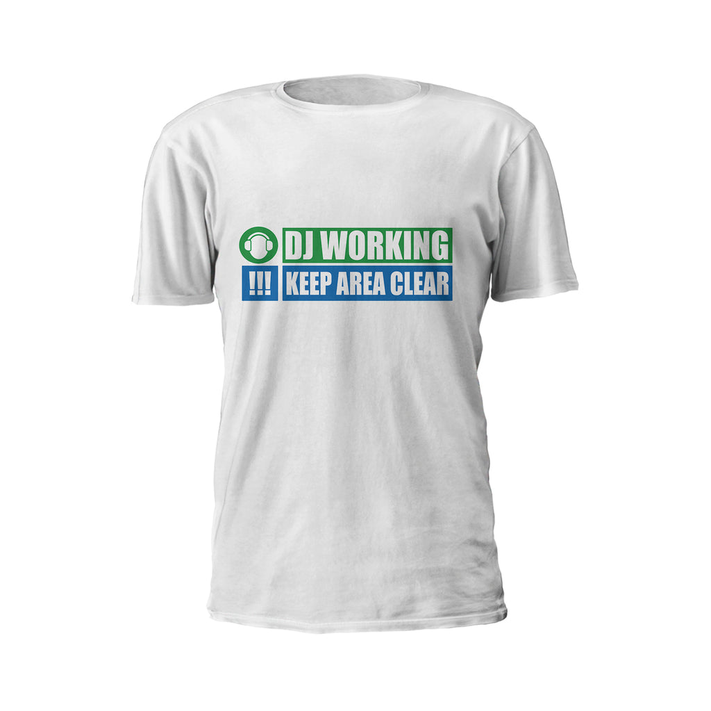 Dj Working - Keep Area Clear Short Sleeve T-Shirt - GET FRESH MARKETPLACE