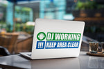 Dj Working - Keep Area Clear Laptop Skin/Decal - GET FRESH MARKETPLACE