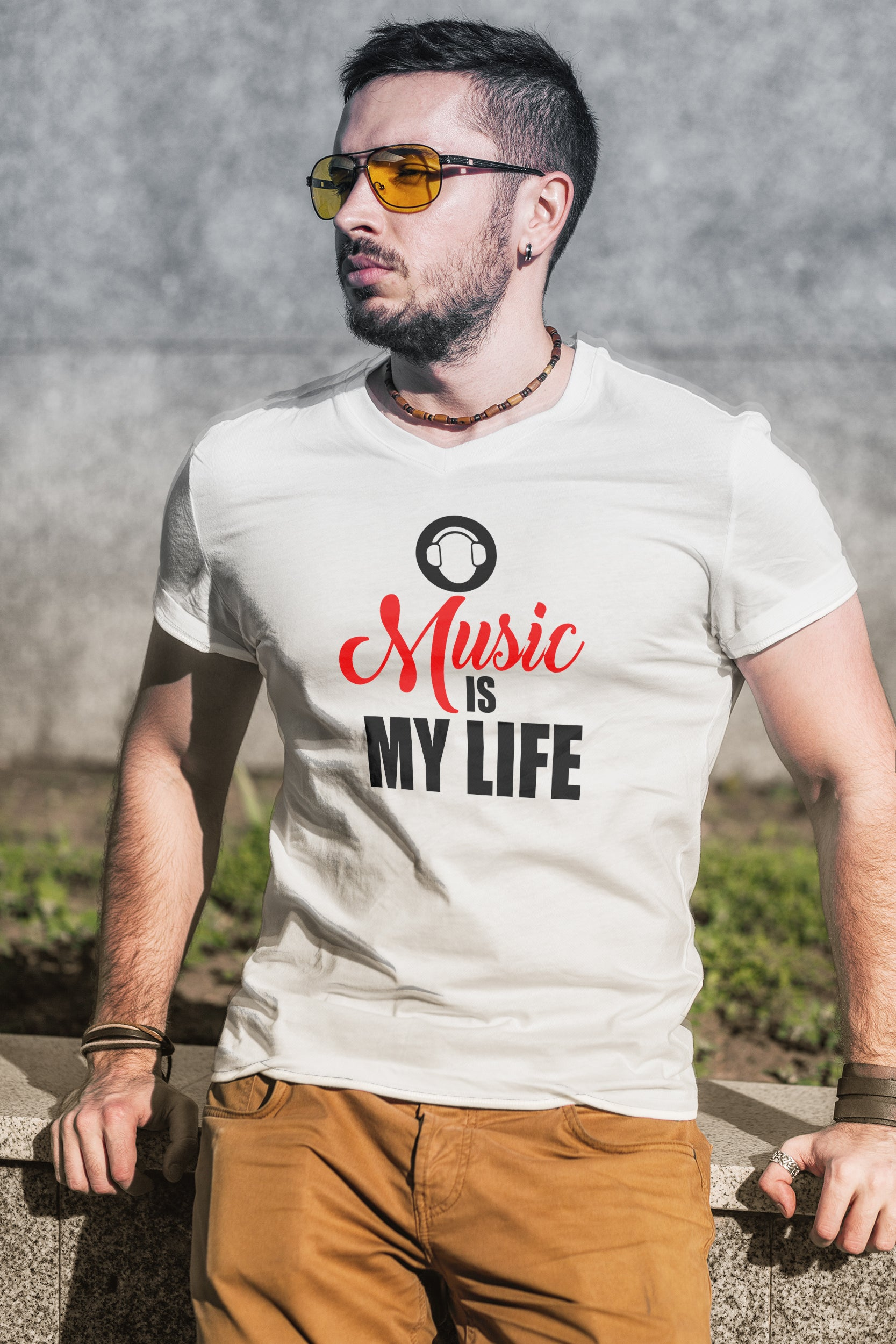 Music Is My Life Short Sleeve T-Shirt - GET FRESH MARKETPLACE