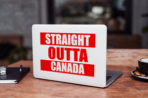 Straight Outta Canada Laptop Skin/Decal - GET FRESH MARKETPLACE