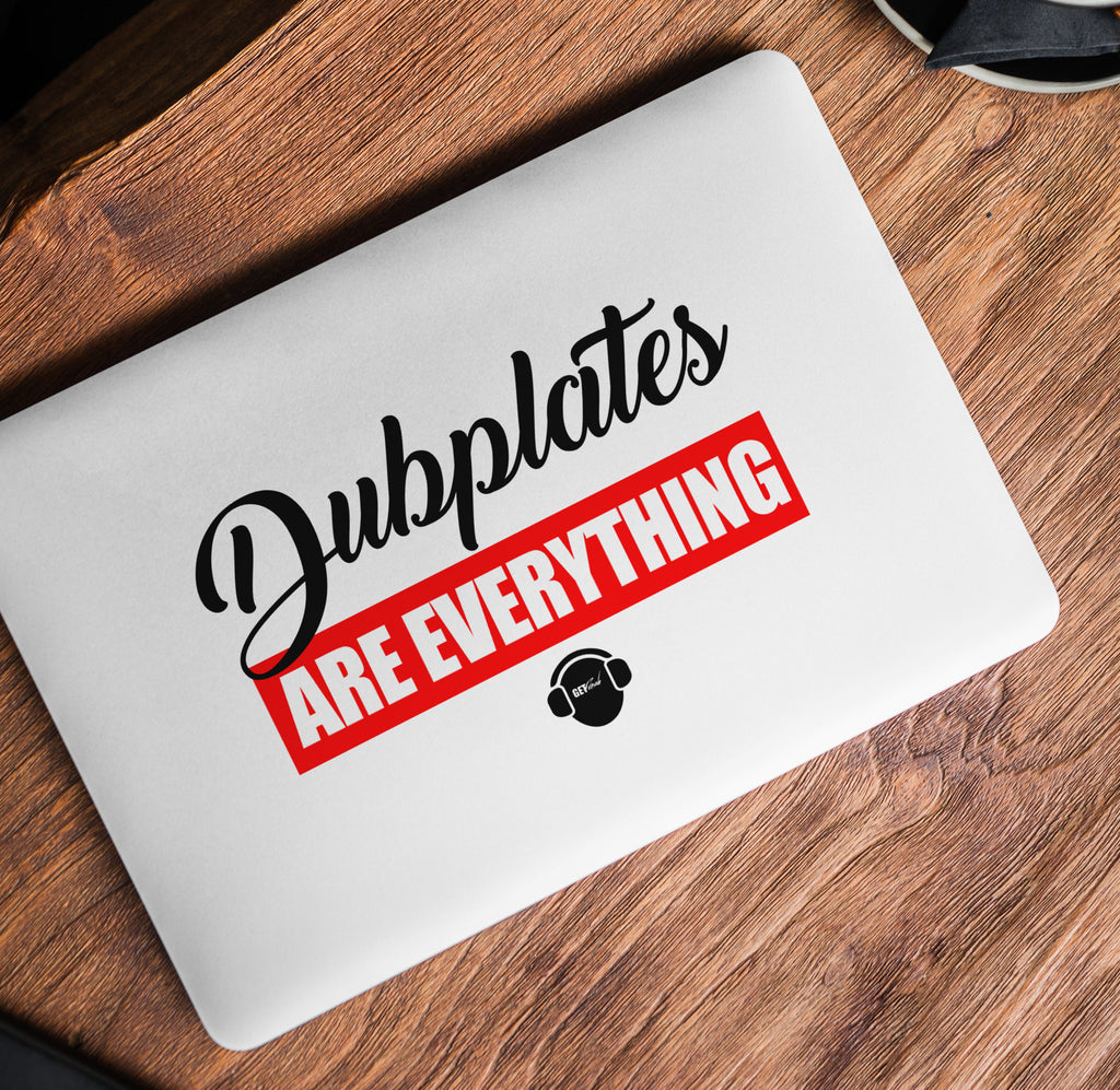 Dubplates Are Everything Laptop Skin/Decal - GET FRESH MARKETPLACE