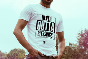 Never Outta Blessings Short Sleeve T-Shirt - GET FRESH MARKETPLACE
