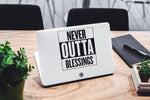 Never Outta Blessings Laptop Skin/Decal - GET FRESH MARKETPLACE