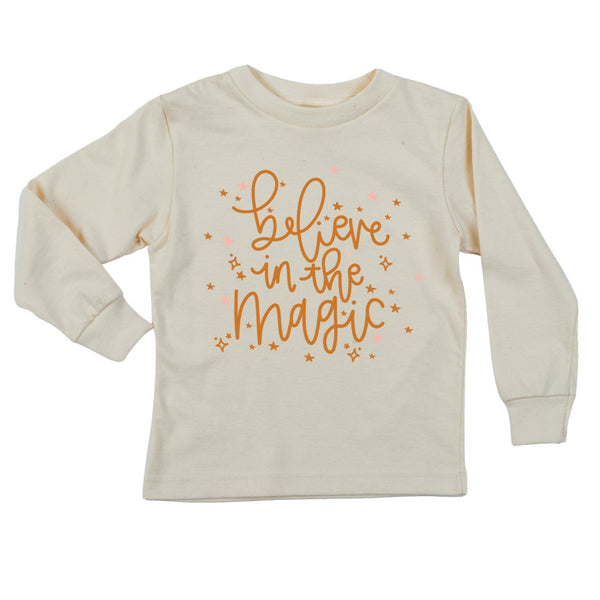 """Believe In the Magic"" Long Sleeve Organic Tee"