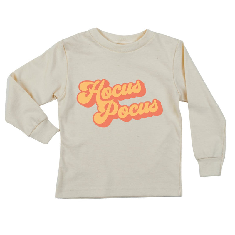 """Hocus Pocus"" Orange  Long Sleeve Organic Tee"