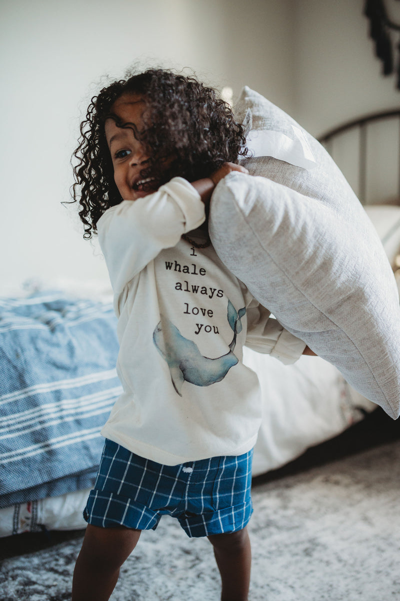 """I Whale Always Love You"" Long Sleeve Organic Tee"
