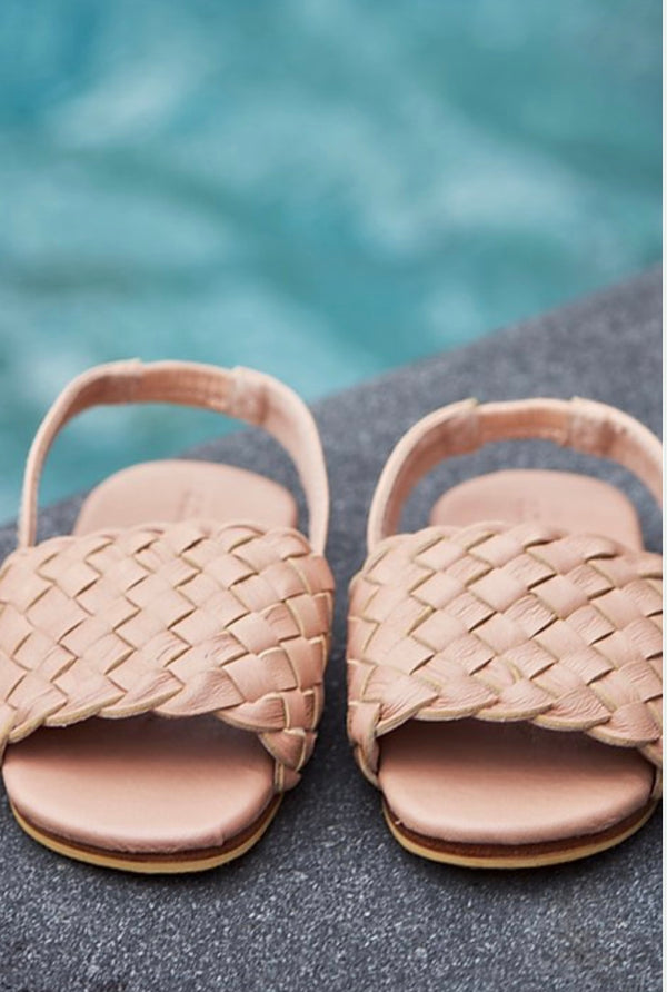 "Sandals in ""Nude"""