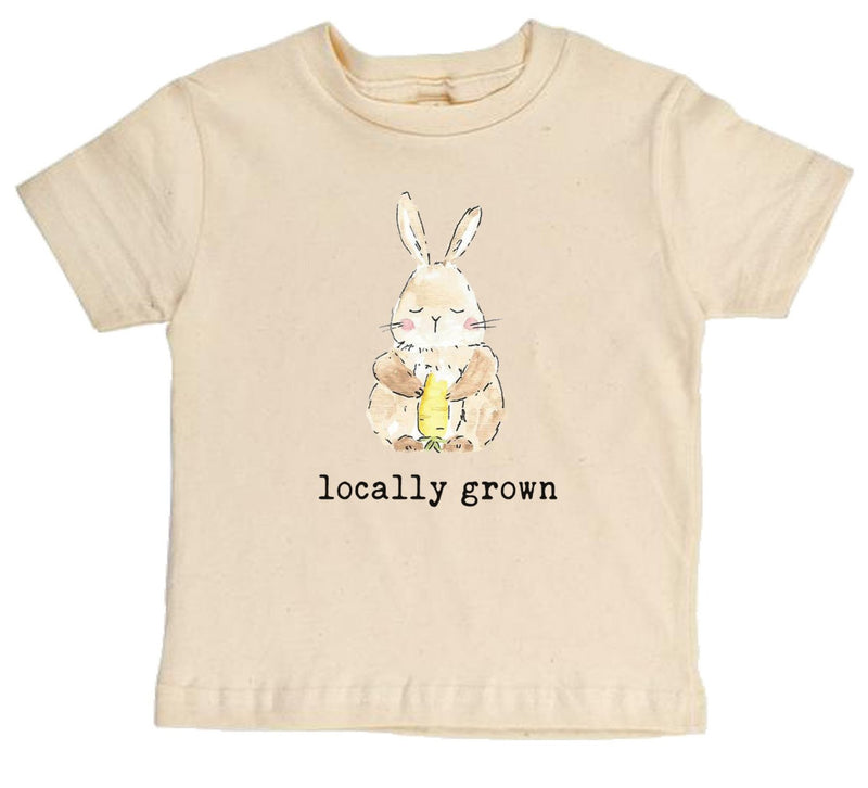 """Locally Grown"" Bunny Short Sleeve Organic Tee"