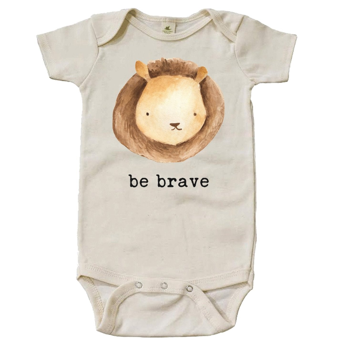 """Be Brave"" Short Sleeve Organic Bodysuit"