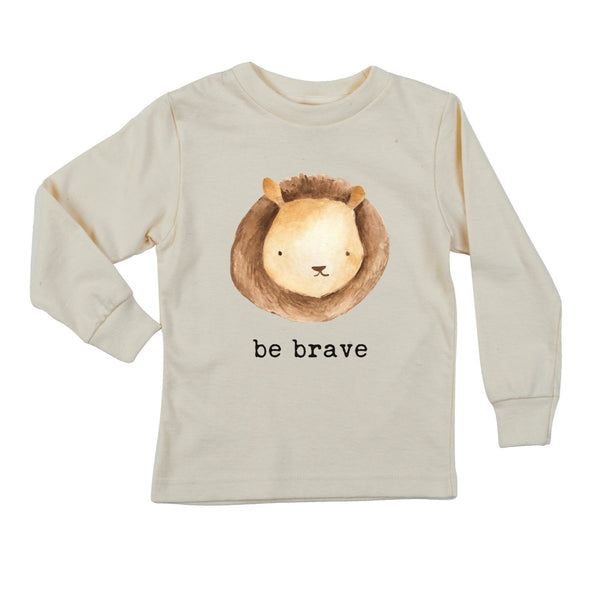 """Be Brave""  Long Sleeve Organic Tee"