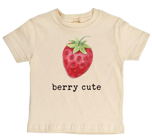 """Berry Cute"" Short Sleeve Organic  Tee"