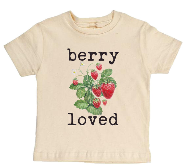 """Berry Loved"" Short Sleeve Organic Tee"