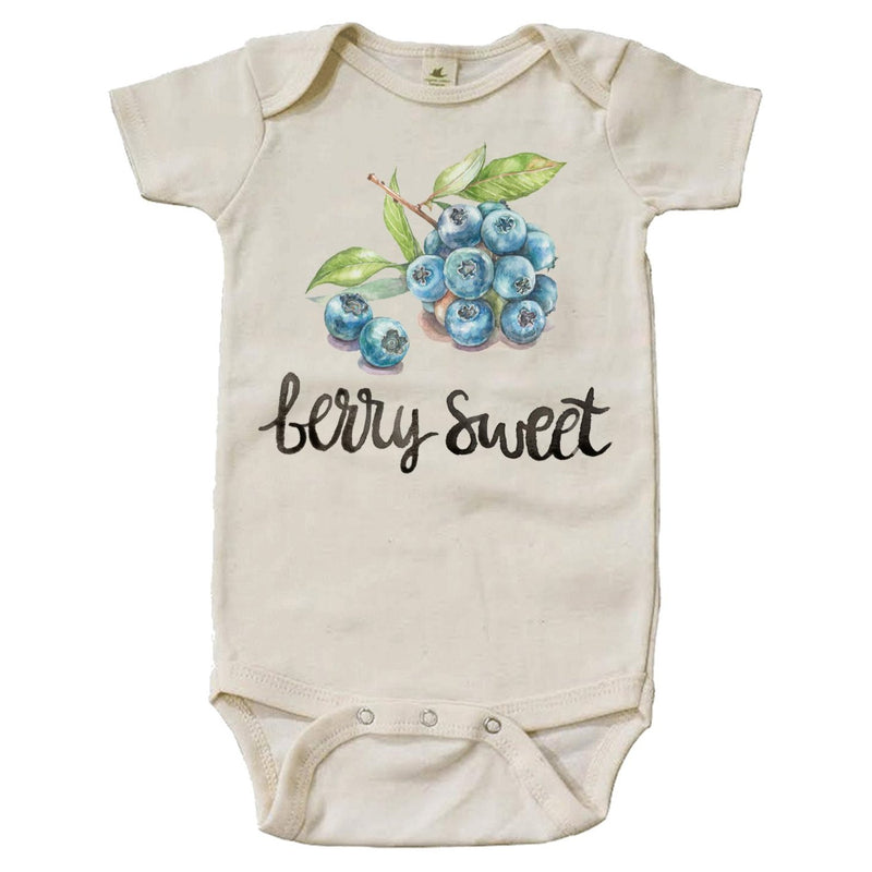 """Berry Sweet"" Short Sleeve Organic Bodysuit"