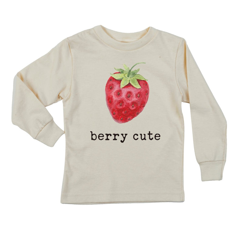"""Berry Cute"" Long Sleeve Organic Tee"