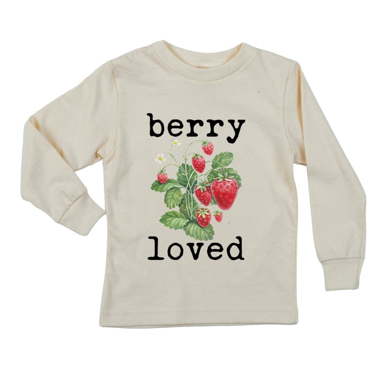 """Berry Loved"" Long Sleeve Organic Tee"