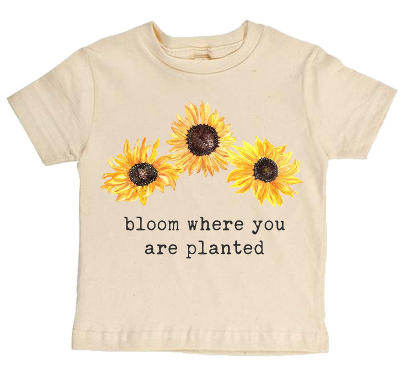 """Bloom Where You Are Planted"" Short Sleeve Organic Tee"