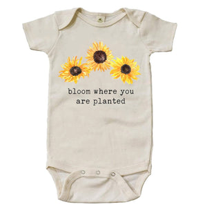 """Bloom Where You Are Planted"" Short Sleeve Organic Bodysuit"