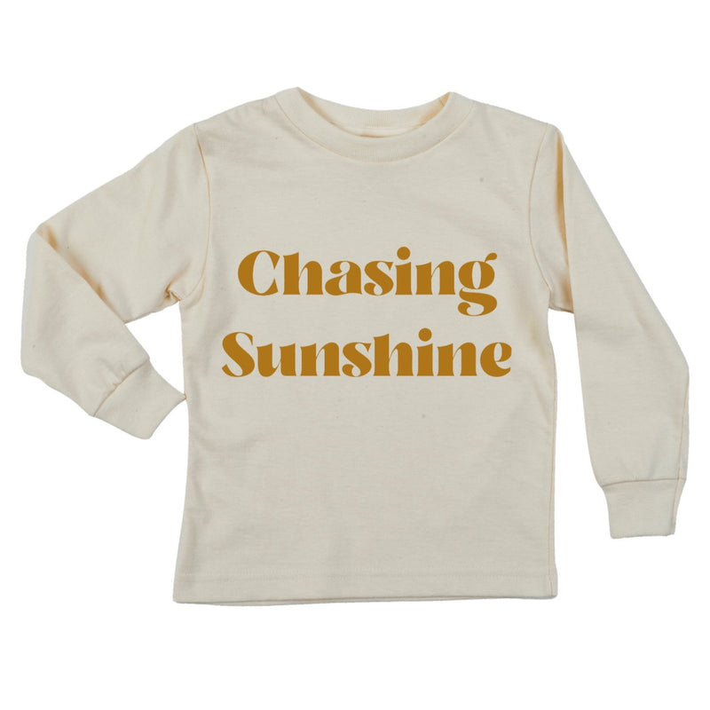"""Chasing Sunshine""  Long Sleeve Organic Tee"