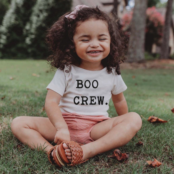 """The Boo Crew"" Short Sleeve Organic Bodysuit"