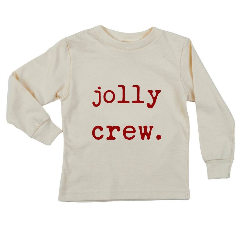 """Jolly Crew"" Long Sleeve Organic Tee"