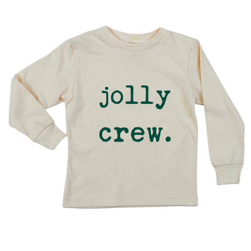 """Jolly Crew"" Evergreen Long Sleeve Organic Tee"