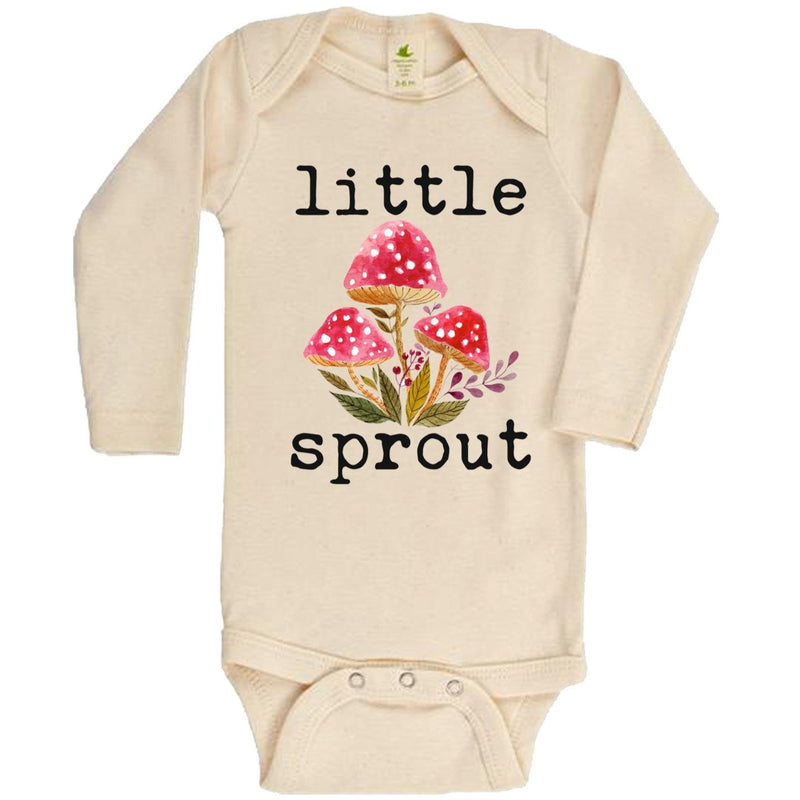 Little Sprout Long Sleeve Organic Bodysuit