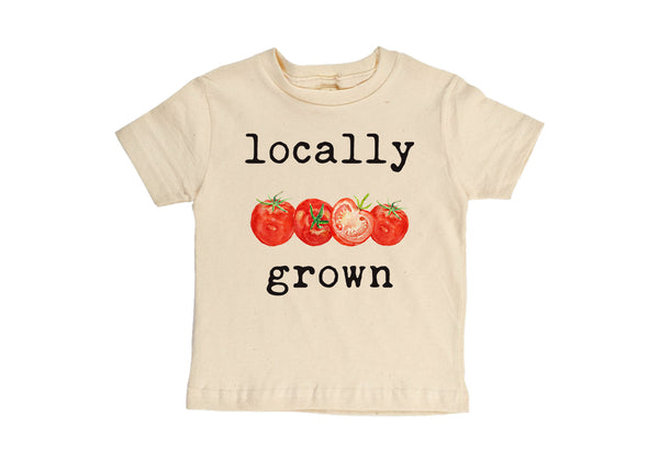 """Locally Grown"" Tomato Short Sleeve Organic Tee"