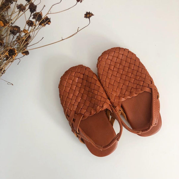 "Mules in ""Summer Tan"""