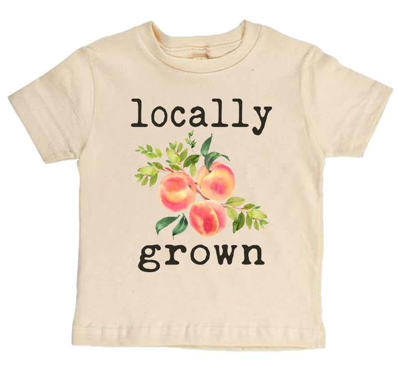 """Locally Grown"" Peach Short Sleeve Organic Tee"