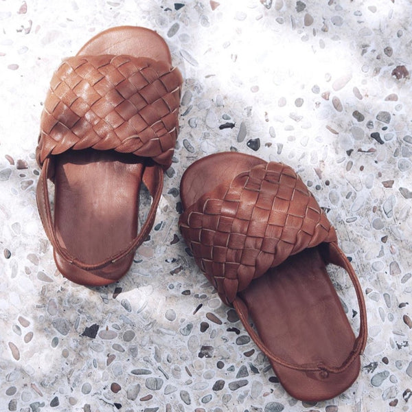 "Sandals in ""Summer Tan"""