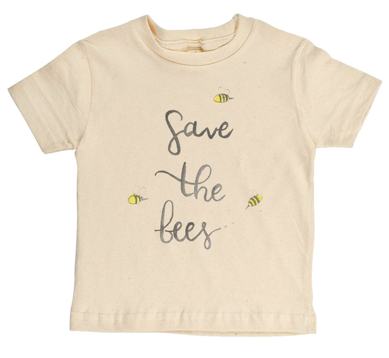 """Save The Bees"" Gender Neutral Short Sleeve Organic Tee"