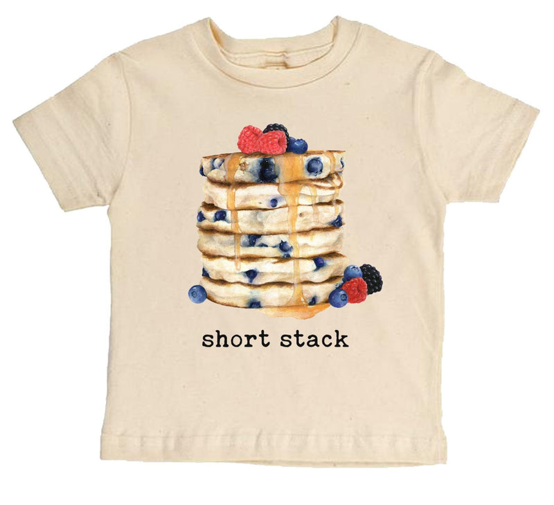 """Short Stack"" Pancake Short Sleeve Organic Tee"