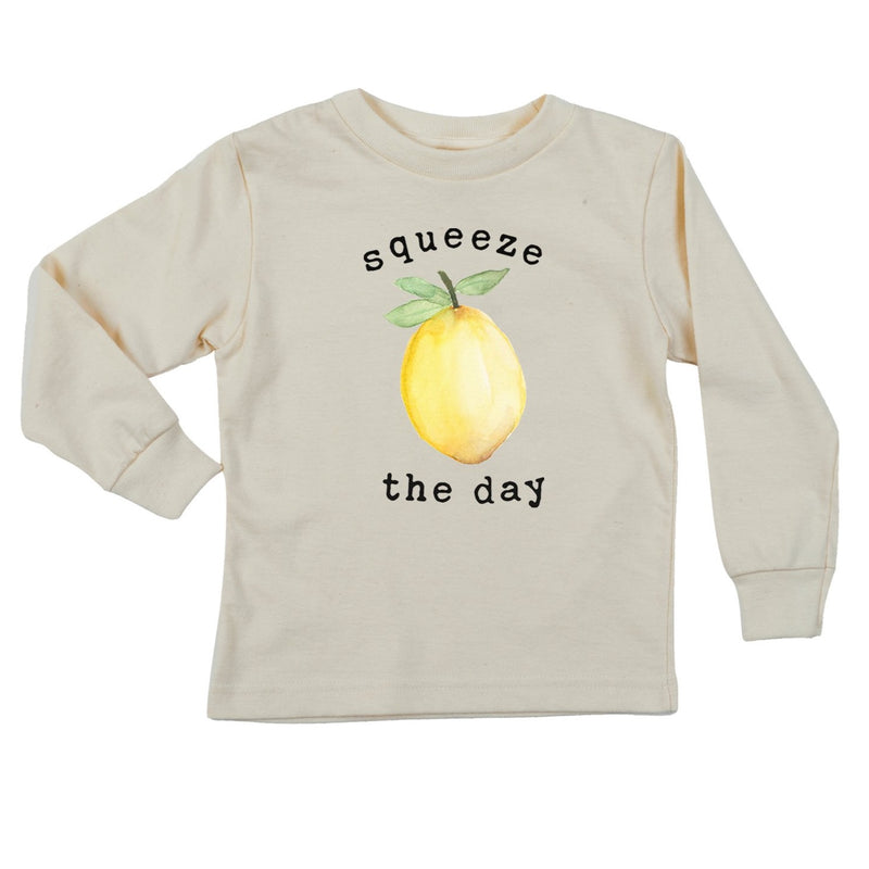 """Squeeze The Day"" Long Sleeve Organic Tee"