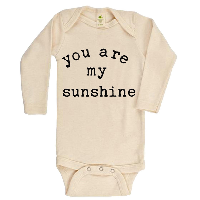 """You Are My Sunshine"" Long Sleeve Organic Bodysuit"